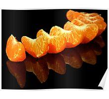 Orange segements Poster