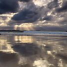 Rainbow Bay at Sunset by D Byrne