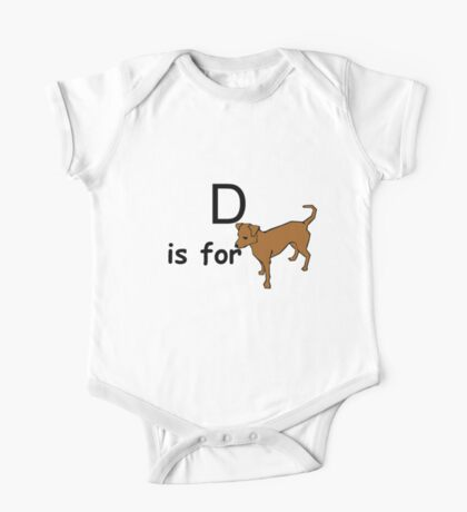 D is for ...V2 One Piece - Short Sleeve