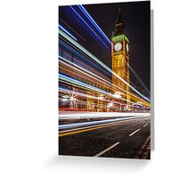 Big Ben and the Colors of the Night Greeting Card