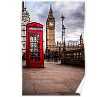 Red Phone Box and Big Ben Poster