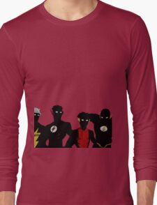 The Flashfam in Young Justice Long Sleeve T-Shirt