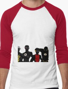 The Flashfam in Young Justice Men's Baseball ¾ T-Shirt