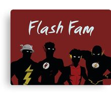 The Flashfam in Young Justice Canvas Print