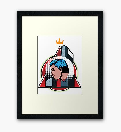 Hero King  Framed Print