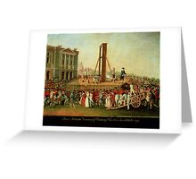 The Execution of Marie-Antoinette (1755-93) 16th Oct 1793 (oil on copper)  Greeting Card