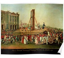 The Execution of Marie-Antoinette (1755-93) 16th Oct 1793 (oil on copper)  Poster