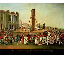 The Execution of Marie-Antoinette (1755-93) 16th Oct 1793 (oil on copper)  Photographic Print