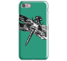 Dragonfly Charcoal Sketch iPhone Case/Skin