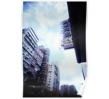 Cartons of Buildings - Lomo Poster