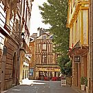 Small Street in Central Vannes Brittany France by Buckwhite
