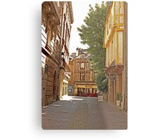 Small Street in Central Vannes Brittany France Metal Print