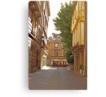 Small Street in Central Vannes Brittany France Canvas Print