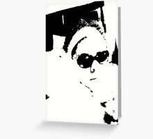 Self Portrait B&W Greeting Card