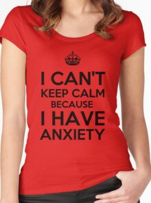 Keep Anxious Women's Fitted Scoop T-Shirt