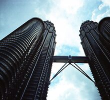 Twin Towers - Lomo by Yao Liang Chua