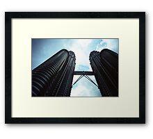 Twin Towers - Lomo Framed Print