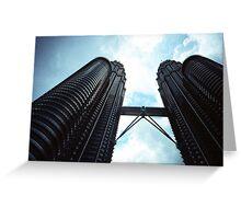 Twin Towers - Lomo Greeting Card