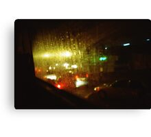 Raindrops Keep Falling - Lomo Canvas Print