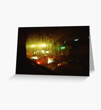 Raindrops Keep Falling - Lomo Greeting Card