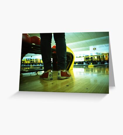 These Shoes Are Meant For Bowling - Lomo Greeting Card