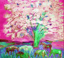Spring and Horses 1 digital by vtarcau