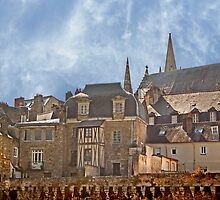 Ramparts de Vannes Brittany France by Buckwhite