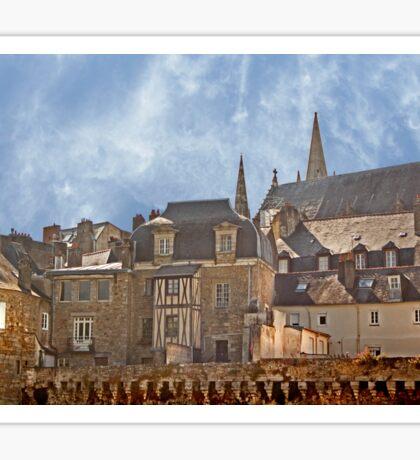 Ramparts de Vannes Brittany France Sticker