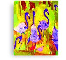 Flamingos 1 Digital Canvas Print