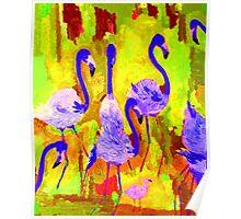 Flamingos 1 Digital Poster