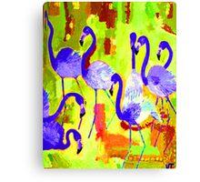 Flamingos 2 Digital Canvas Print