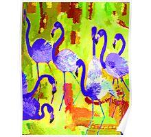 Flamingos 2 Digital Poster