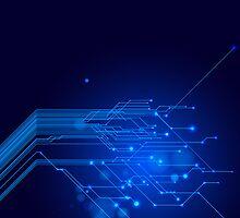 Blue Technology Case by Bryan Livezey