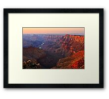 Sunset on the Grand Canyon from Navajo Point Framed Print