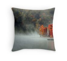 Fog and Fire Throw Pillow