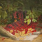 Fruit Still Life - A Harvest of Currants - Vintage Painting of Currants - Fruit Images by traciv