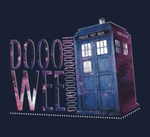TARDIS T-SHIRT B by HizaChu