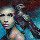 Lady with the Falcon by Slaveika Aladjova