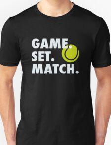 Game Set Match Baseball T-Shirt