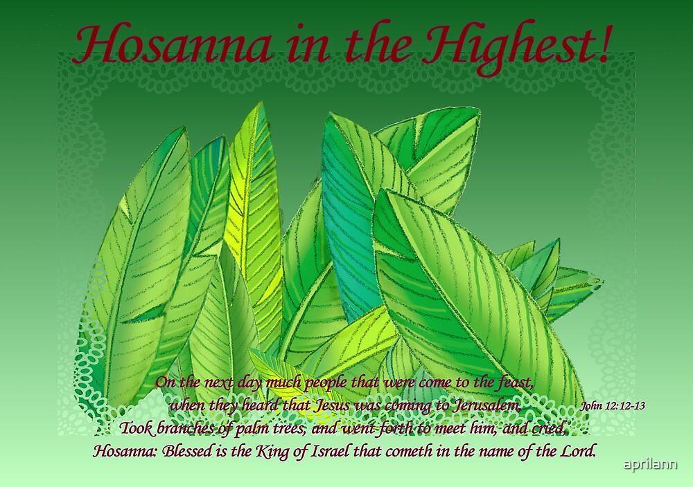 Hosanna in the Highest! by aprilann