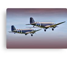 DC3 Take Off  -  !  Duxford 26.05.2013 Canvas Print