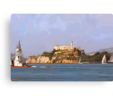 San Francisco Alcatraz from peir Canvas Print