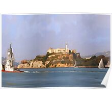 San Francisco Alcatraz from peir Poster