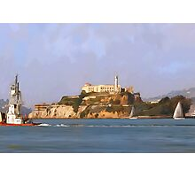 San Francisco Alcatraz from peir Photographic Print