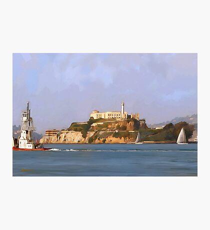 San Francisco Alcatraz from peir Photographic Print