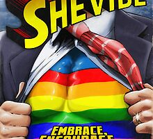 SheVibe Super Human Gay Pride Cover Art by shevibe