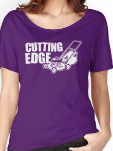 Cutting Edge (White Print) Women's Relaxed Fit T-Shirt