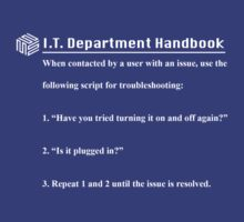 IT Department Handbook by MrSchadenfreude