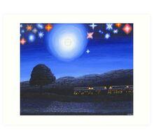 Imaginary Starry Night Art Print