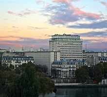 Golden Light Over Paris. by niiicola